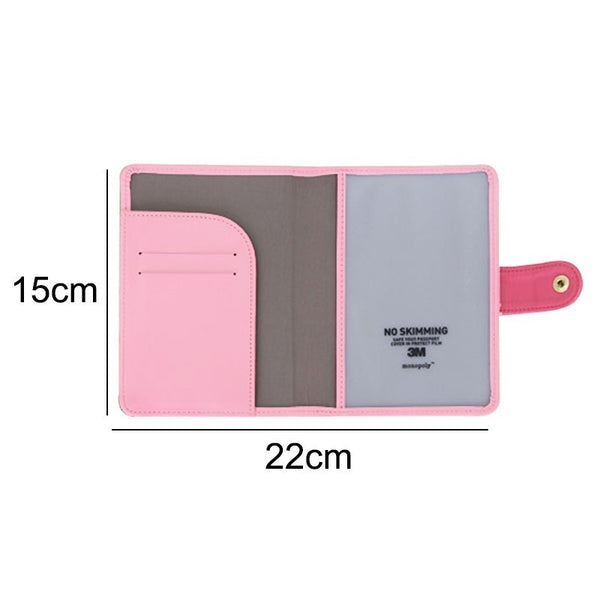 Universal Travel Passport Cover Women Pu Leather Cute Pink Holder Passport Lovely Girl Pasaport Case Travel Covers for passports