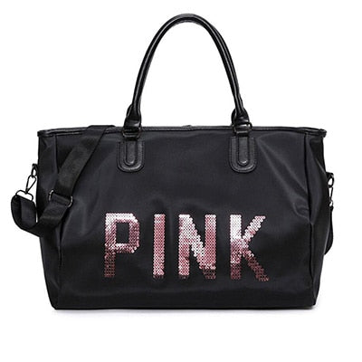 """Pink"" Gym Tote Travel Bag"