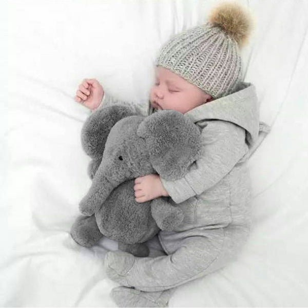 Cute Soft Baby Elephant Stuffed Plush Pillow!