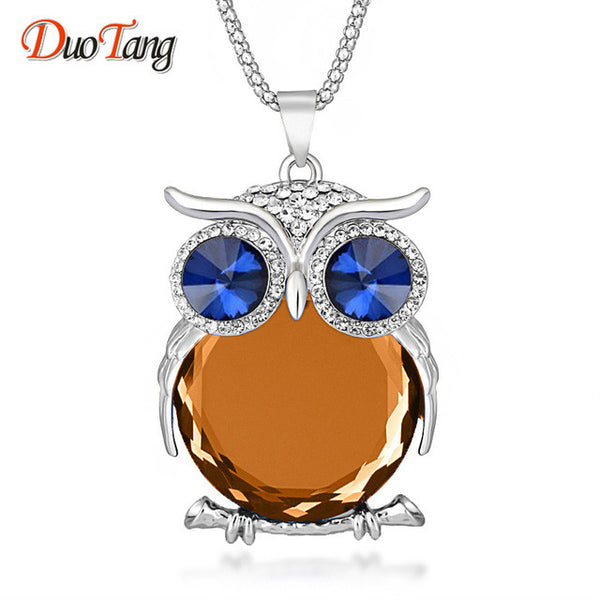 """Beautiful Vintage Owl Necklace"""
