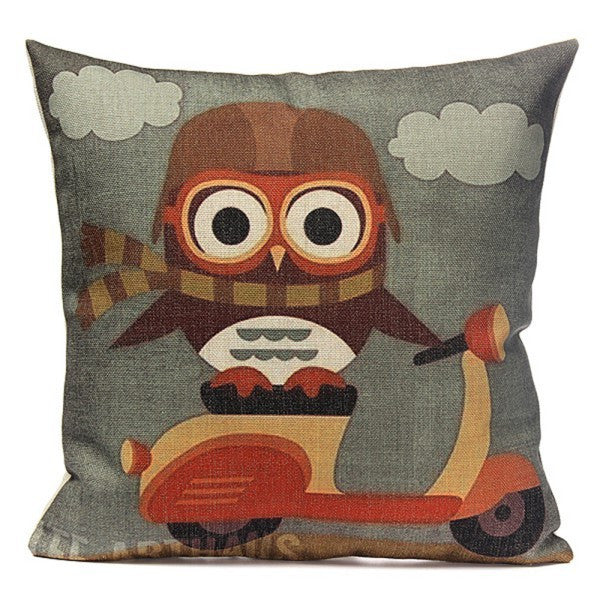 """Cute Owl Print Pillow Case"""