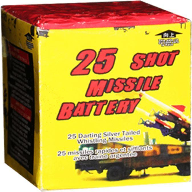 Mystical Fireworks Rockets & Missiles 25 Shot Missle Battery
