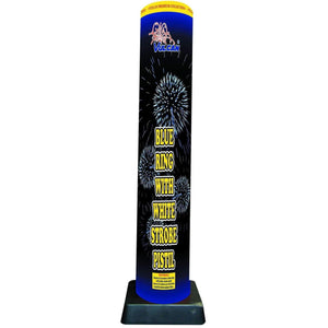 Vulcan Fireworks Bombshells Blue Ring with White Strobe Pistil