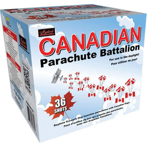 Mystical Fireworks Daytime Canadian Parachute Battalion