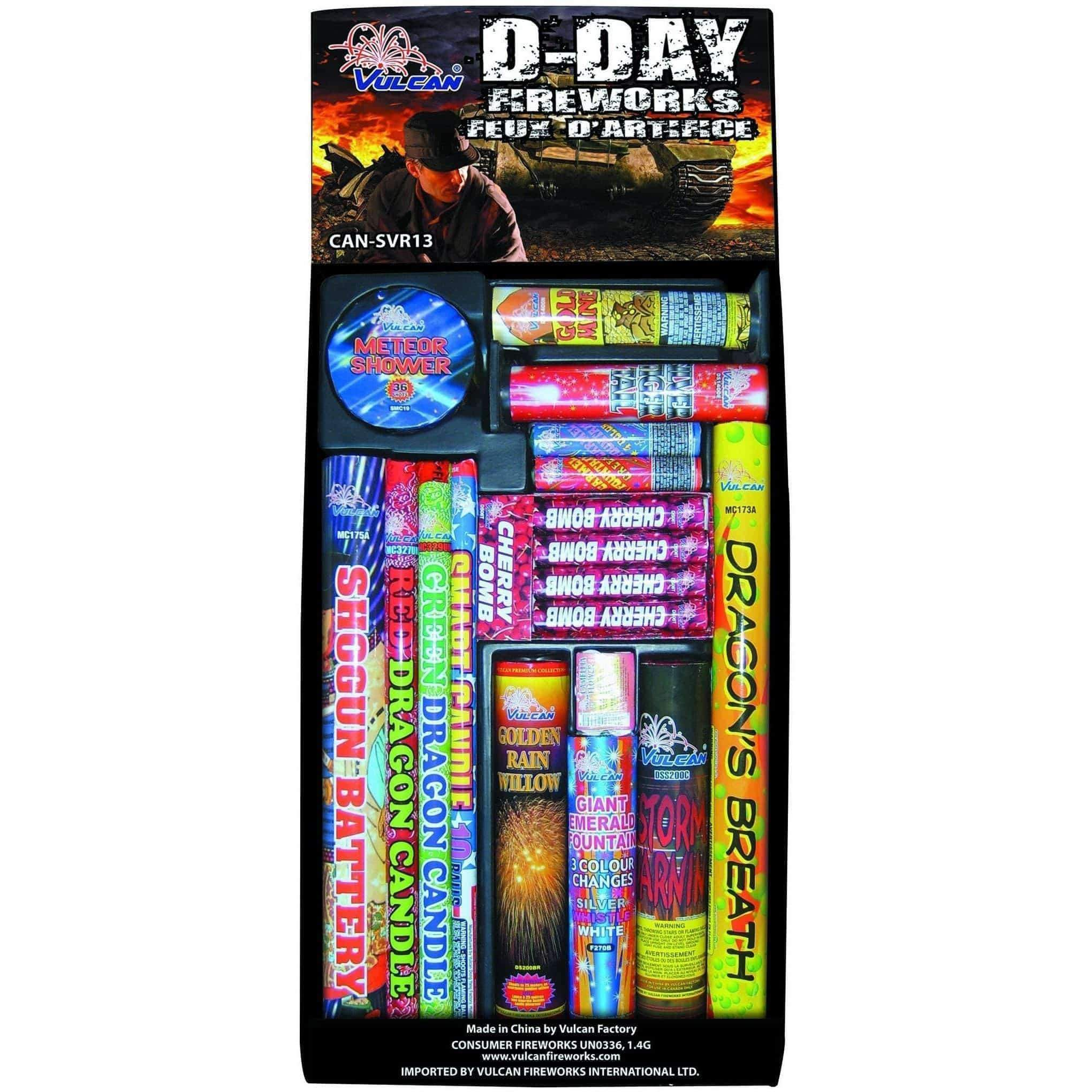 Vulcan Fireworks Family Pack Assortment D-Day