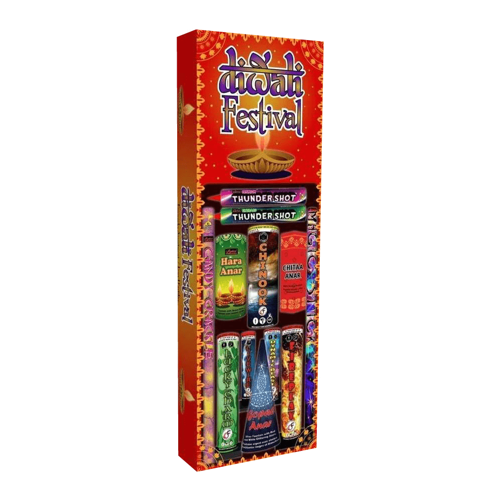 Mystical Fireworks Family Pack Assortment Diwali Festival Pack