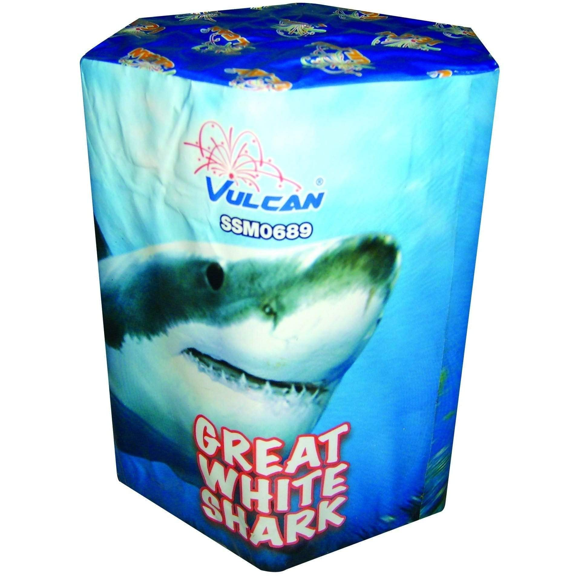 Vulcan Fireworks Cakes Great White Shark