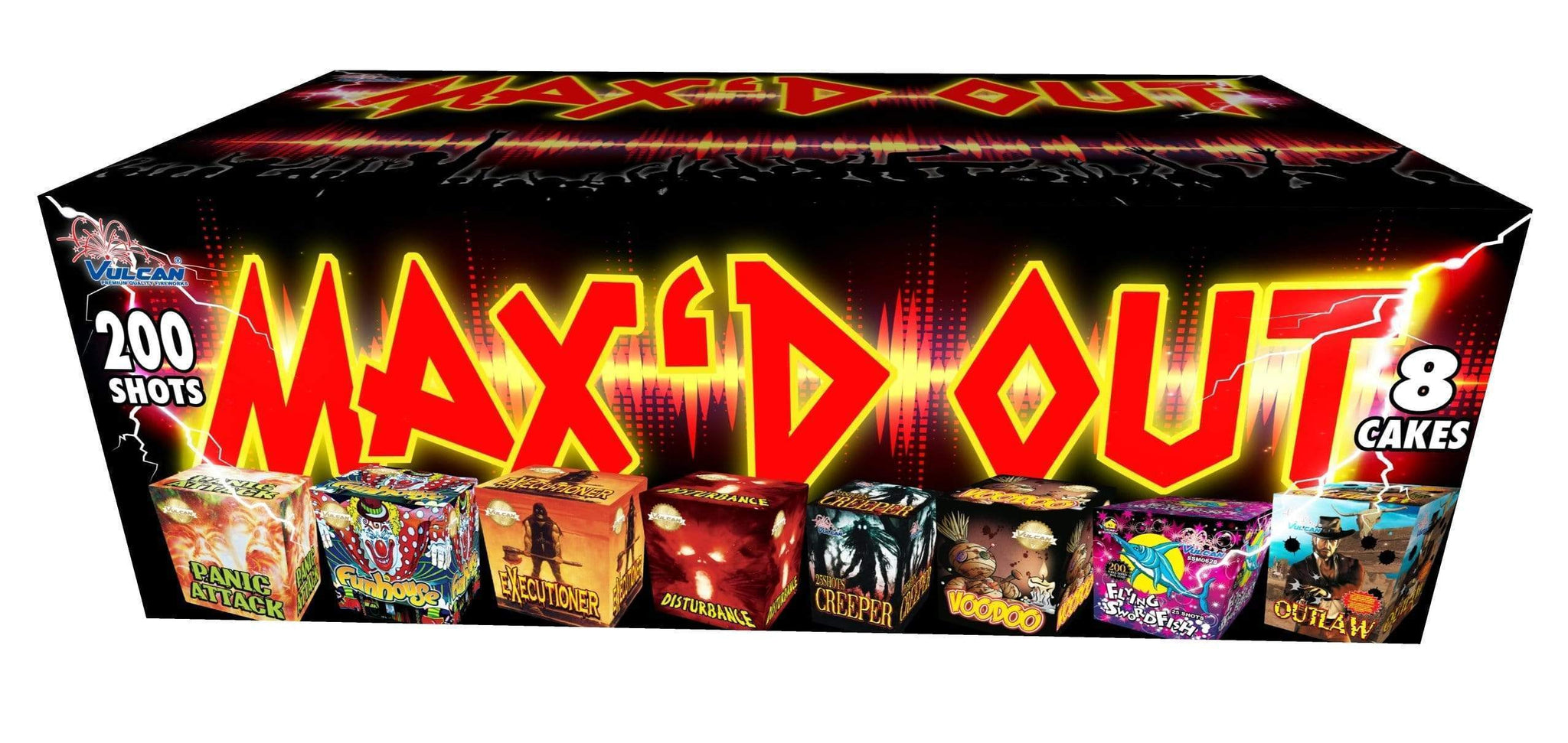 Vulcan Fireworks Family Pack Assortment Maxd Out