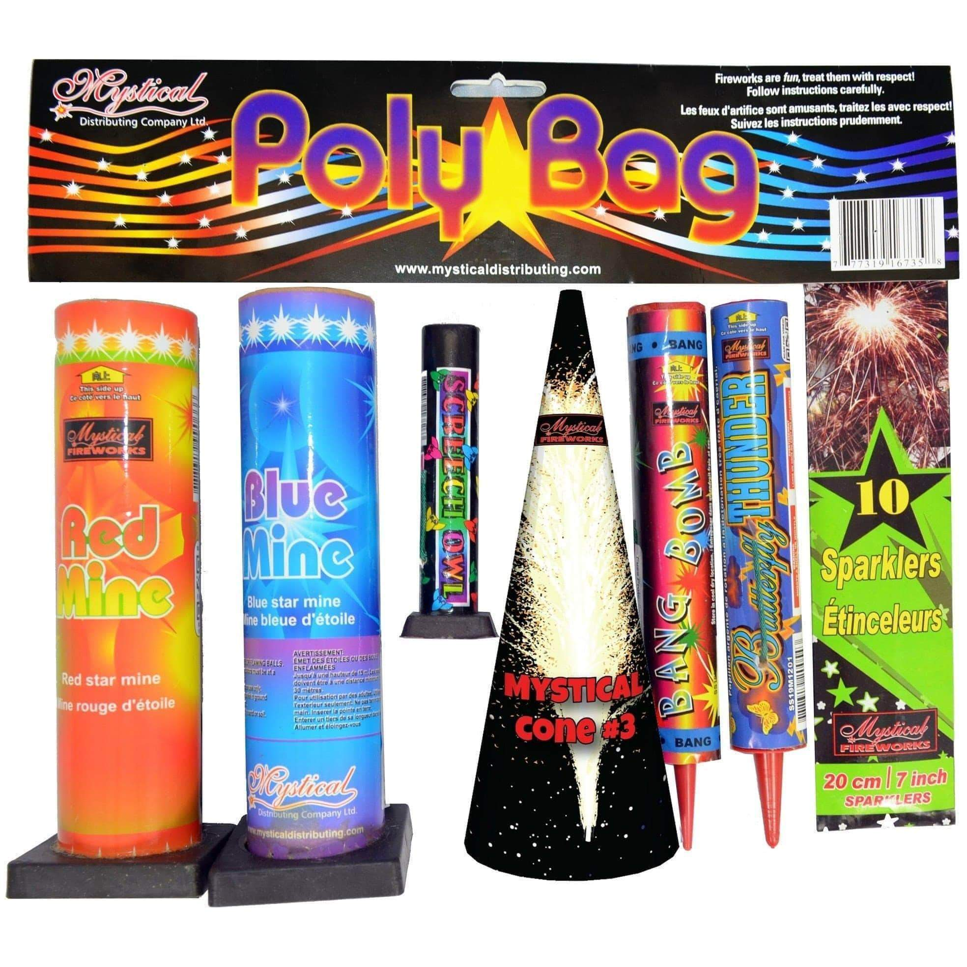 Mystical Fireworks Family Pack Assortment Poly Bag