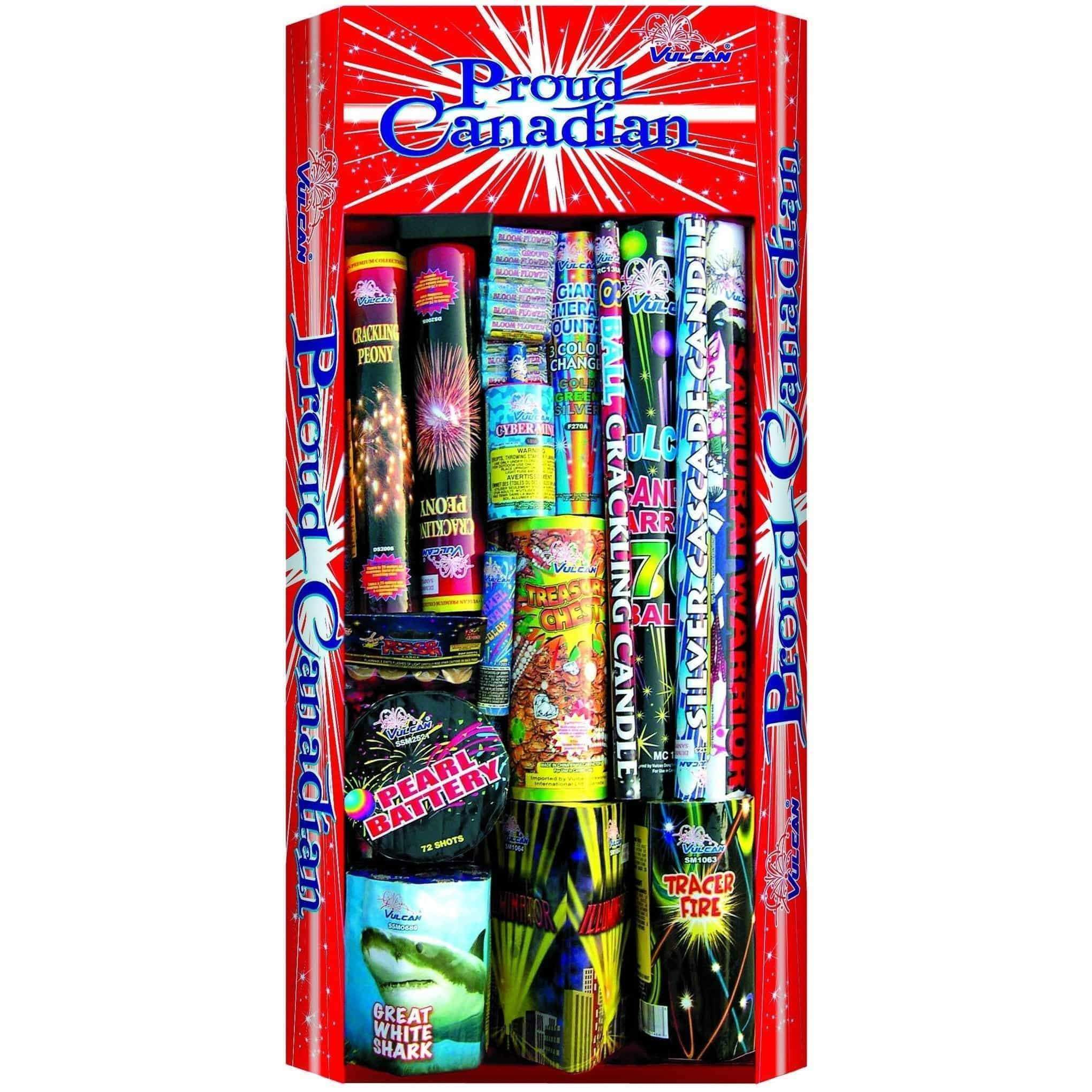 Vulcan Fireworks Family Pack Assortment Proud Canadian