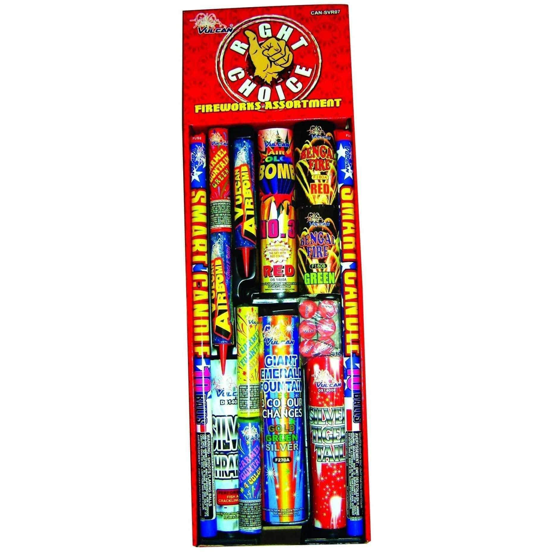 Vulcan Fireworks Family Pack Assortment Right Choice