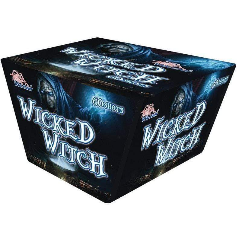 Vulcan Fireworks Fanned Cakes Wicked Witch