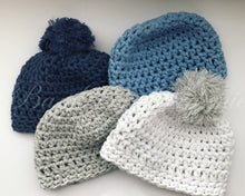 Mini Crochet Beanie - Light blue