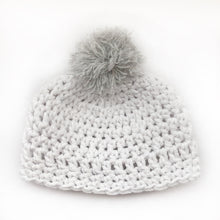 Mini Crochet Beanie - White