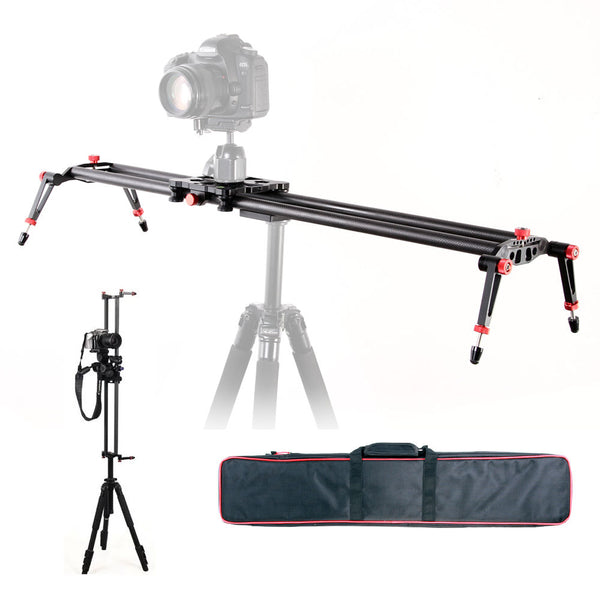 "Pro 32"" Carbon Fiber Rail System + Video Stabilizer"