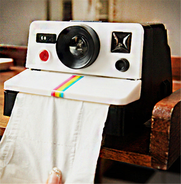 Retro Polaroid Camera  Toilet Paper Holder