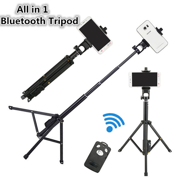 All in 1 Compact Bluetooth Tripod
