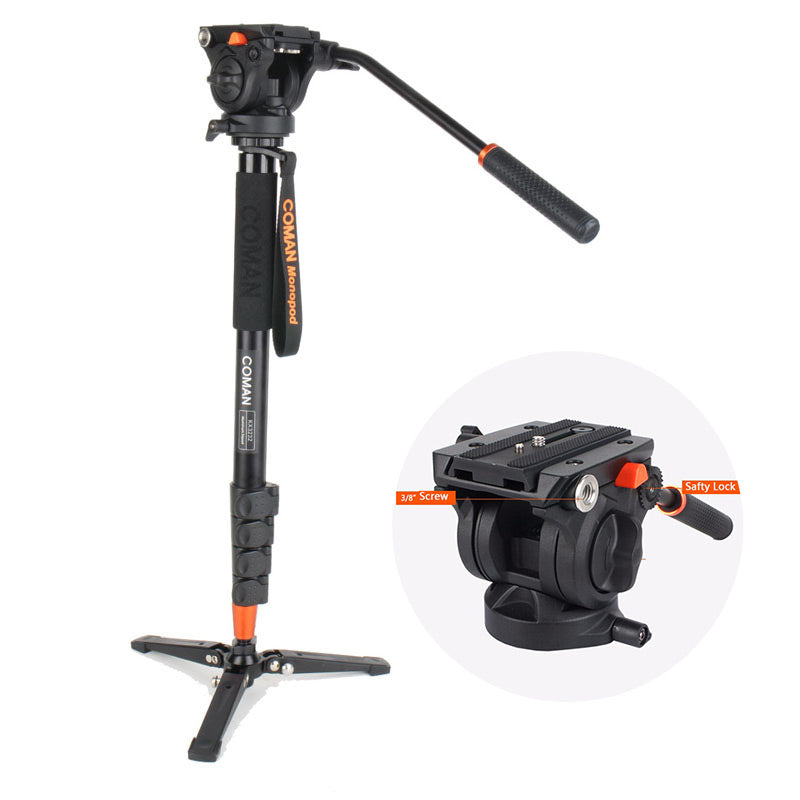 Pro Monopod Video Head + Support Stand