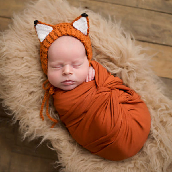 Handmade Fox Baby Hat