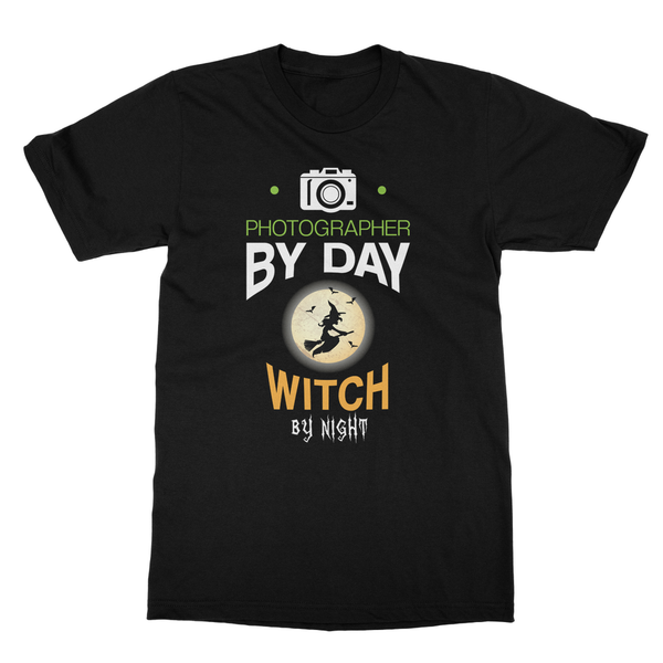 Photographer By Day Witch By Night T-Shirt
