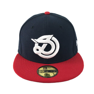 DLOG - New Era 59Fifty Fitted Cap - Navy Red