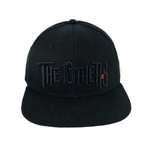DRONE x THE OTHERS - Trucker Snapback Cap - Black/Black