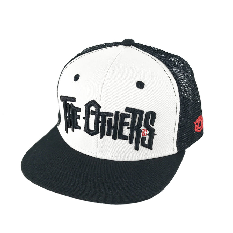 DRONE x THE OTHERS - Trucker Snapback Cap - Black/White