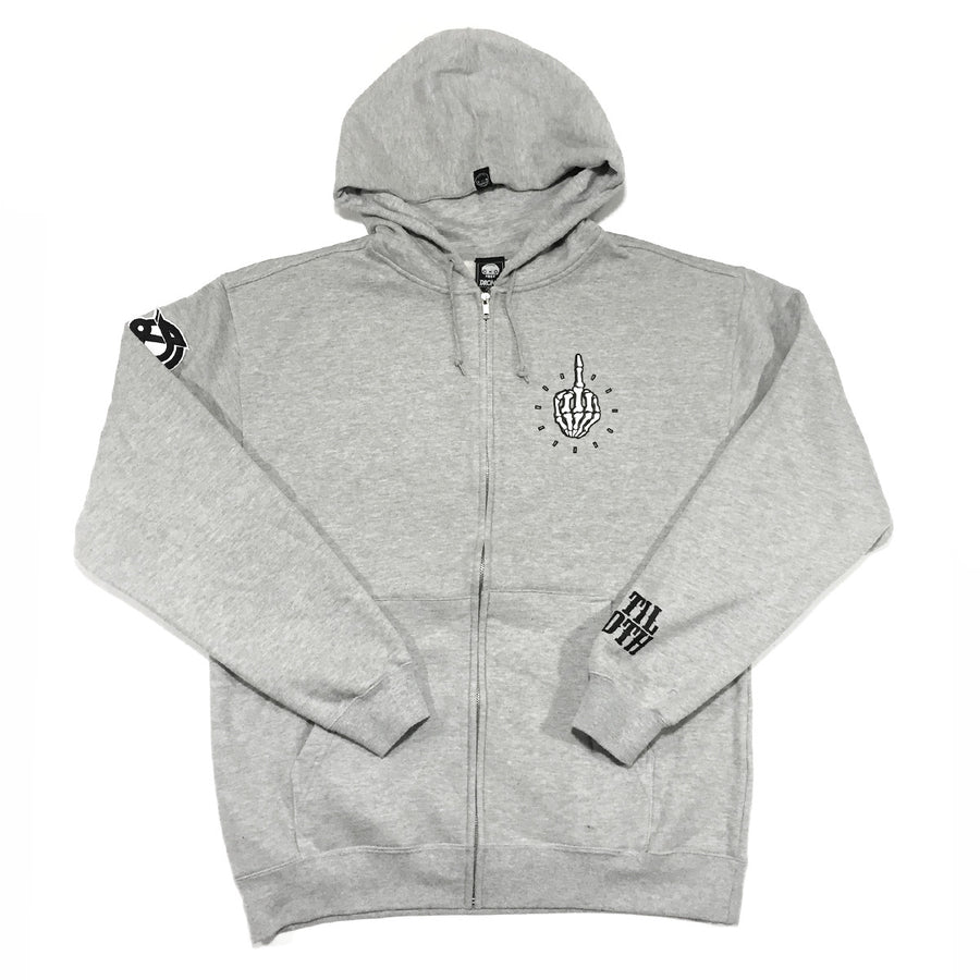 FKTIME  - Mens Athletic Heather Zip-Up Hoodie
