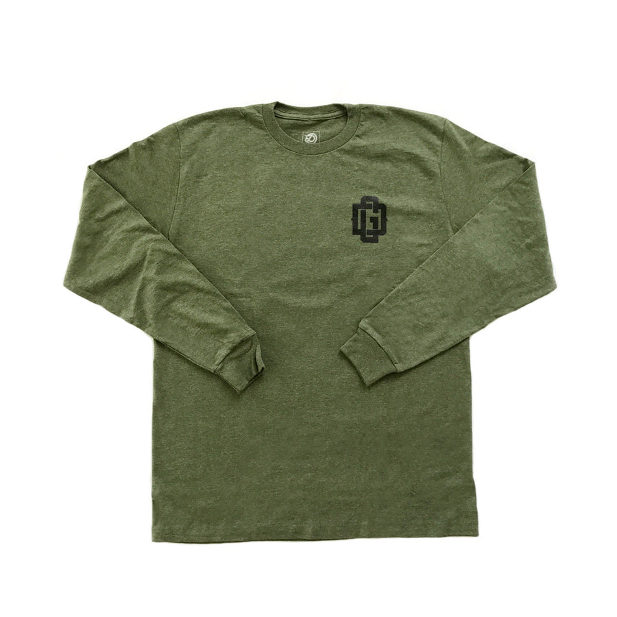 DG  - Mens Green Heather Longsleeve Tee