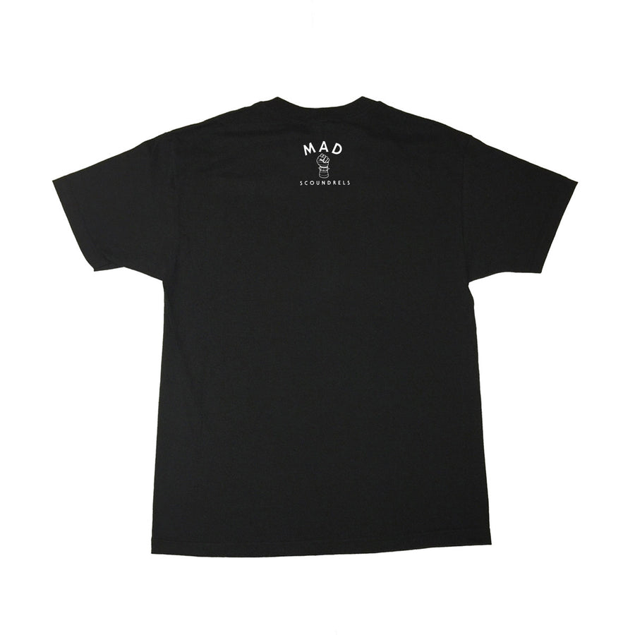MAD SCOUNDRELS - Mens Black Tee