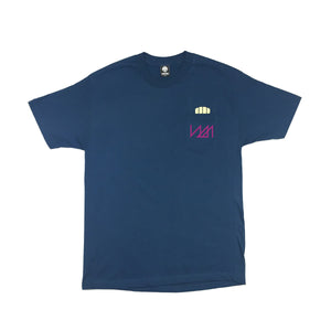 NMPT  - Mens Harbor Blue Pocket Tee