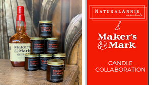 NaturalAnnie Essentials + Maker's Mark Candle Collaboration
