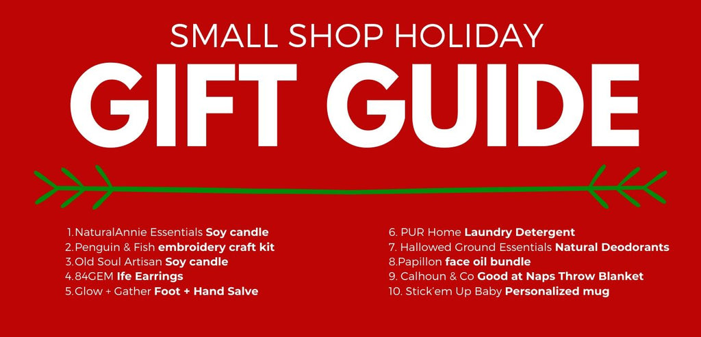 holiday gift ideas from small shops