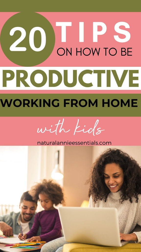 tips for productivity working with kids