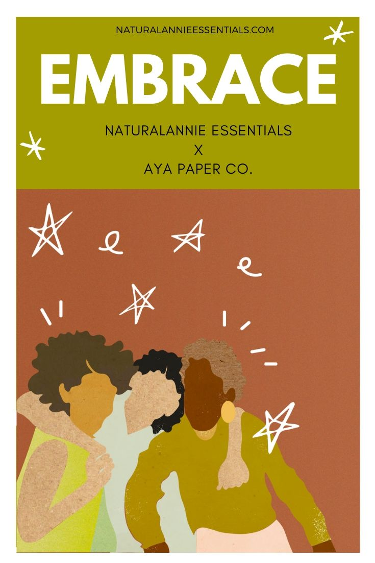 natural annie essentials soy candle collaboration with greeting cards