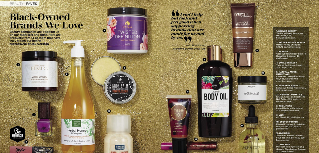 AS SEEN IN ESSENCE MAGAZINE NATURALANNIE ESSENTIALS