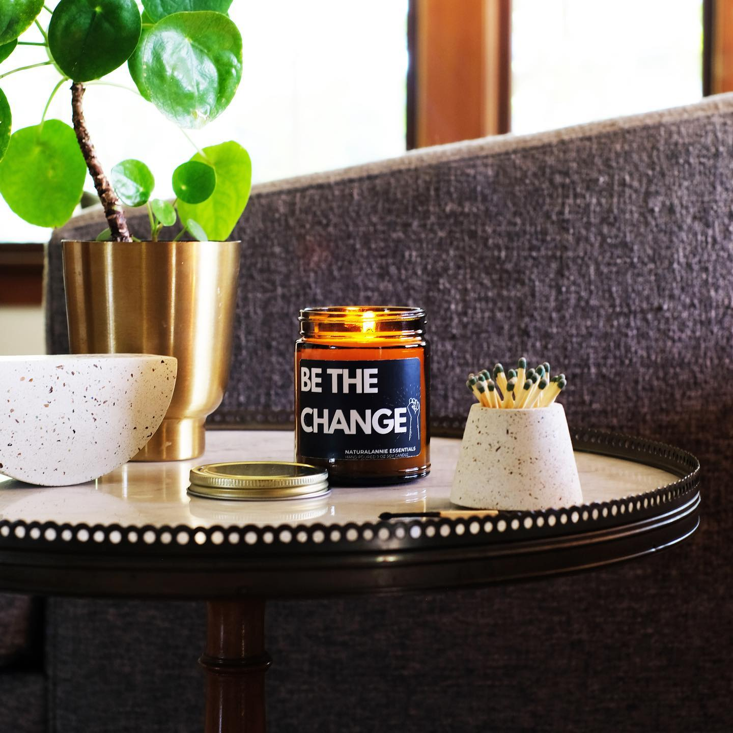 BE THE CHANGE SOY CANDLE TO SUPPORT THE BLACK LIVES MATTER MOVEMENT