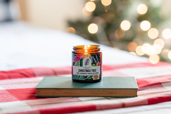 holiday gift guide christmas tree soy candle