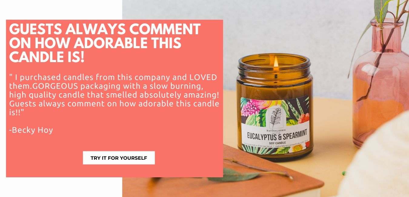 soy candle customer testimonial