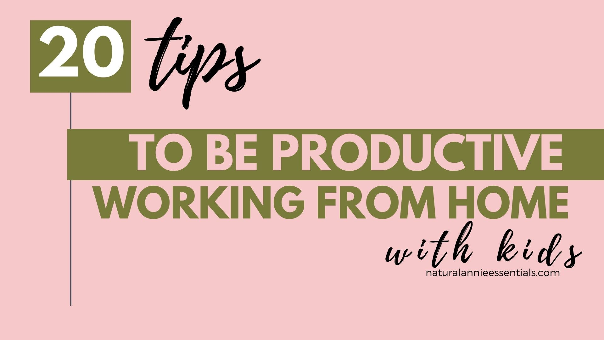 How To Be Productive working with kids