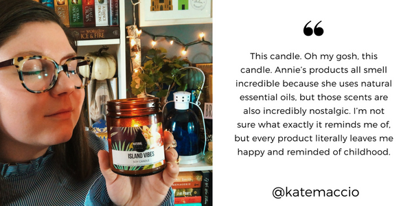 NATURALANNIE ESSENTIALS Island Vibes Soy Candle review