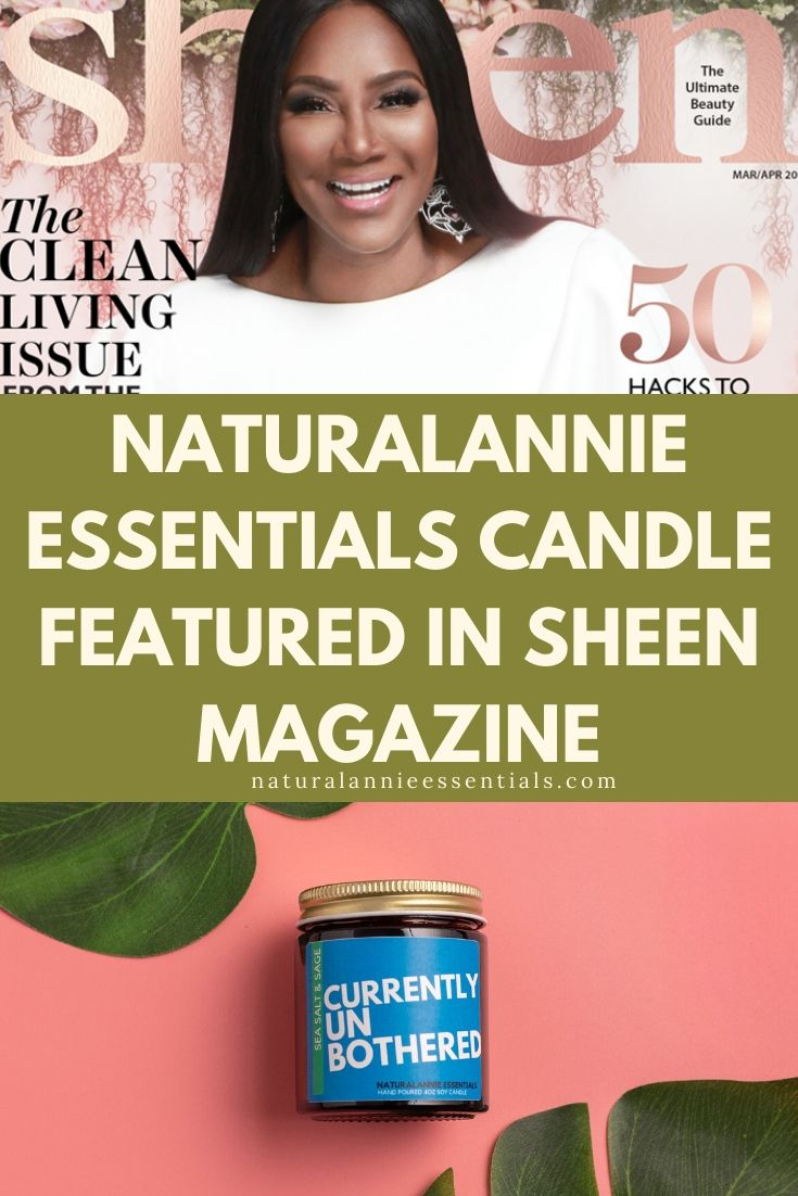 NaturalAnnie Essentials Candle Feature in Sheen Magazine
