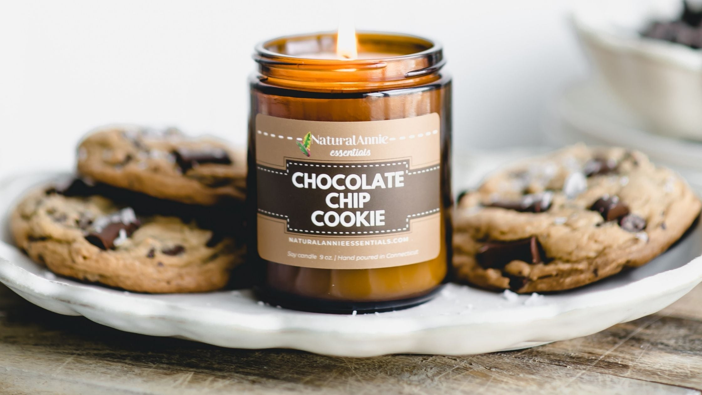 chocolate chip cookie candle for fall