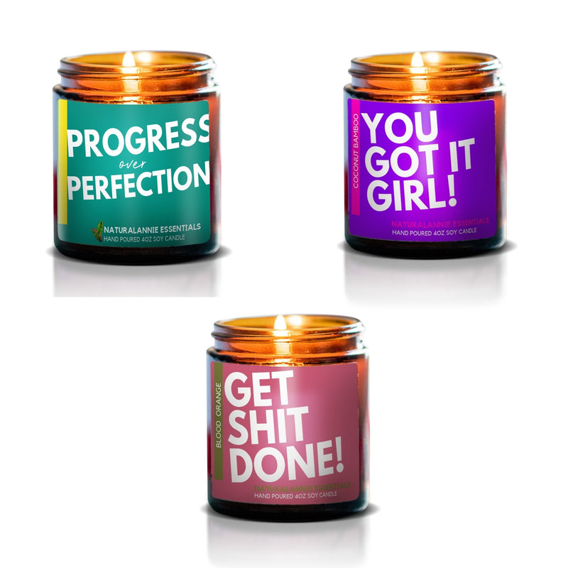 girl boss candle gift set scented Soy Candles