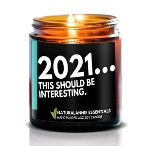 2021...THIS SHOULD BE INTERESTING: Lavender Scented Soy Candle