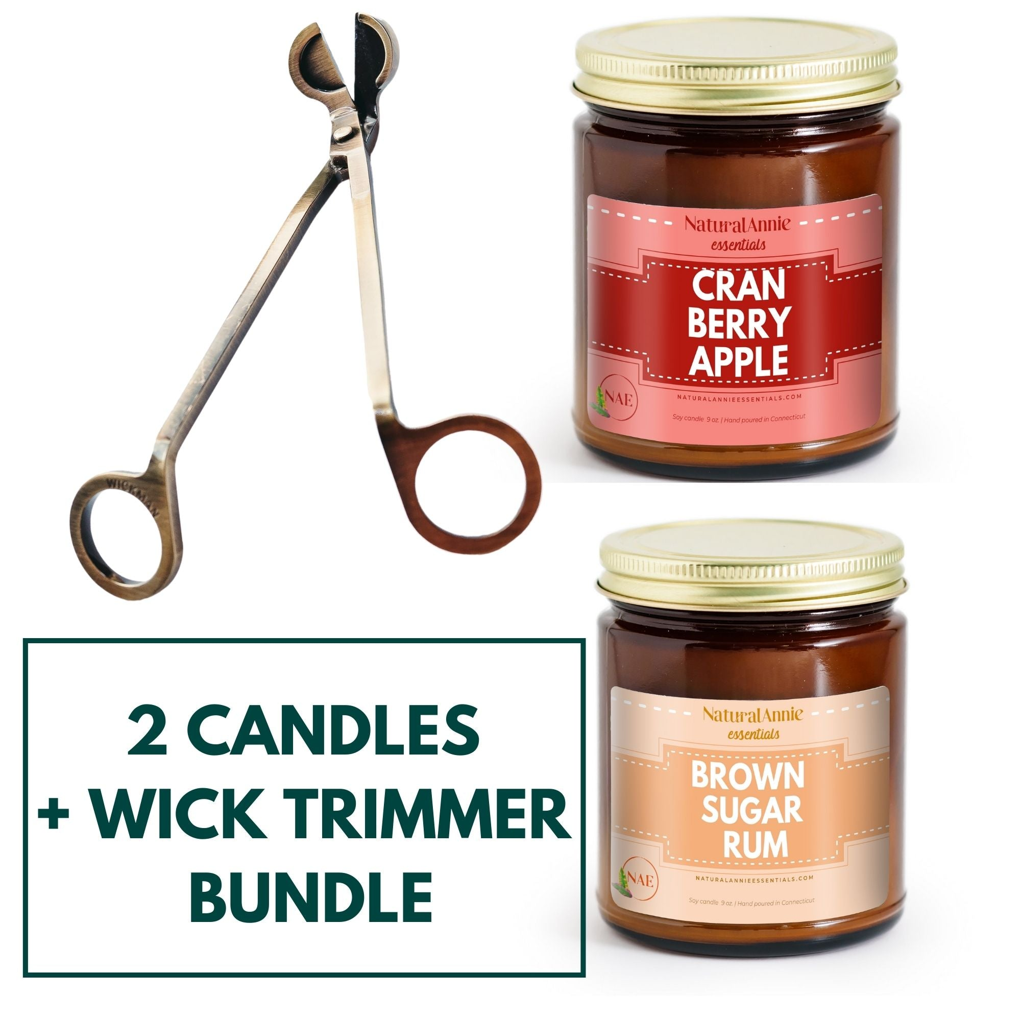 BAKED COLLECTION 4 OZ CANDLE & WICK TRIMMER BUNDLE