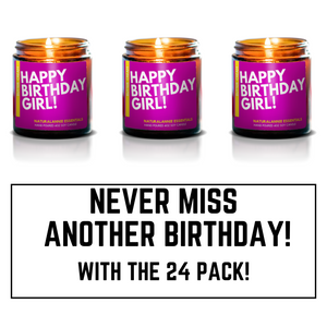 last minute birthday gift for her happy birthday soy candle