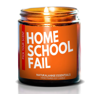 HOME SCHOOL FAIL: Sangria Scented Soy Candle