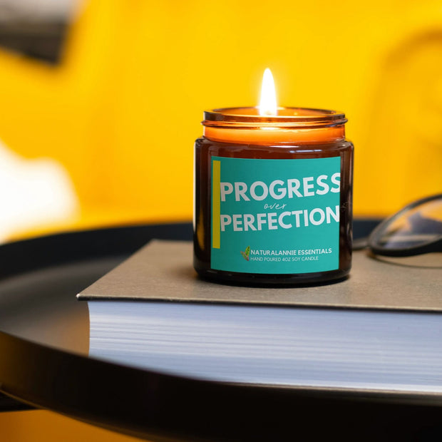 PROGRESS OVER PERFECTION: Lavender Scented Soy Candle 1