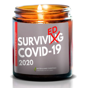 SURVIVED COVID-19 2020: Sea Breeze Scented Soy Candle